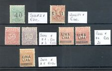 ITALY 7 STAMPS ( BACK OF THE BOOK ) SASS# CV € 400 * MH MOST VF