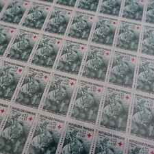 FEUILLE SHEET TIMBRE CROIX ROUGE RED CROSS N°1508 x50 1966 NEUF ** LUXE MNH