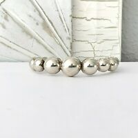 TAXCO Mexican Modernist Sterling Silver 925 BEAD BALL Arm Cuff Bangle Bracelet