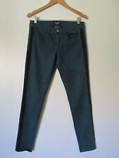 American Eagle Outfitters Green Racing Stripe  Super Stretch Jeggings EUC SZ: 8R