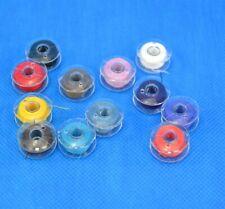 12 Nähmaschinenspulen für Nähmaschine Spule Faden Kunststoff mit Garn Nähgarn