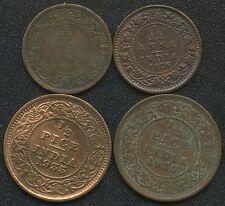 India 1862 1/12 Anna 1925 1/12 Anna & 2 Of 1935 1/2 Pice Coins