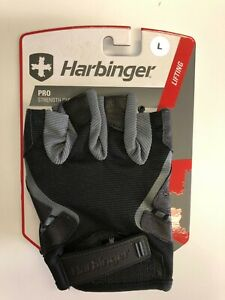 Men's Harbinger Weight Lifting Gloves Black Size Large Style #114330 BRAND NEW!
