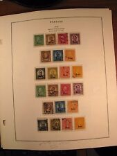 US Stamp Old Album Page Scott# 658-679 Overprint Kans. and Nebr. Mint & Used GL6