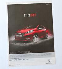 PEUGEOT 208 GTi / Advert Reklame Publicite Publicidad Coche Car Voiture Spanish