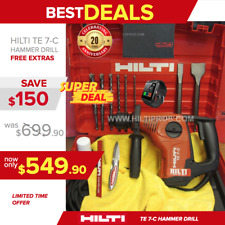 HILTI TE 7-C HAMMER DRILL,PREOWNED, FREE SMART WATCH, BITS, CHISEL, FAST SHIP