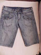 SILVER JEANS~Surplus~Blue Jean Denim Bermuda Shorts Capris Size 27