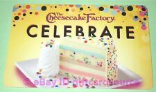 "THE CHEESECAKE FACTORY GIFT CARD ""BIRTHDAY CAKE CELEBRATE"" NO VALUE 2018 NEW"