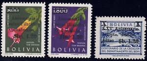 1966 Bolivia SC# C270-C272 - Various Issues Surcharged with New Values - M-NH
