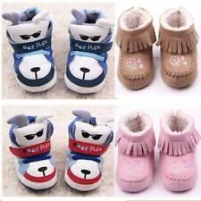 Newborn Toddler Baby Girl Snow Boots Warm Boots Prewalker Soft Sole Crib Shoes