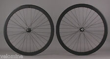 H Plus Son SL42 Black Road Bike Aero Wheelset Shimano 105 5800 Hubs 8-11 Speed