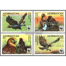 Aserbaidschan Azerbaijan WWF 2011, Schlangenadler, Satz ** (postfrisch)