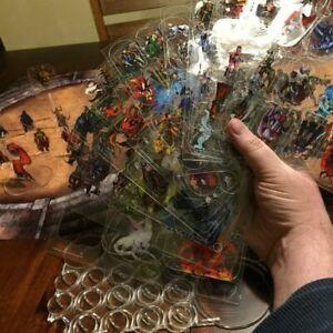 Arcknight Flat Plastic Miniatures - DM Starter Set - 167 2D Minis