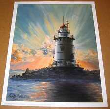 Lighthouse Art Print: Old Saybrook, Ct - 12x15 In.