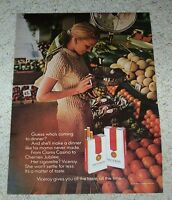 1971 ad page -Viceroy cigarettes- sexy girl smoking fruit stand PRINT tobacco AD