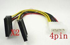 10PCS IDE Molex 4-pin Male to 2x SATA 15-pin Female Y Splitter 8'' Power Cable
