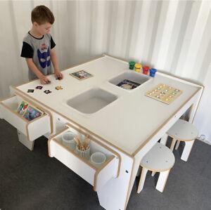 NEW KIDS ACTIVITY SENSORY CRAFT LEGO TABLE - QUALITY AUSTRALIAN MADE