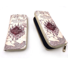 Harry Potter Marauder Map Synthetic Leather Badge Wallet Hand Satche Purse Bag