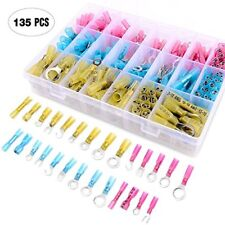 135Pcs Heat Shrink Wire Connector Kit Electrical Insulated Crimp Marine Terminal