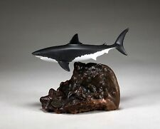 GREAT WHITE SHARK MALE Statue New direct from John Perry 8in long Airbrushed