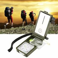 Multi Use 10 in 1 Outdoor Military Camping Hiking Survival Tool Compass Kit