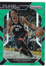 16/17 2016/17 Prizm Green Go Hard or Go Home Prizms DeMar DeRozan #22 Raptors