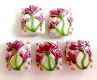 10pcs exquisite handmade Lampwork glass beads flower 16*20mm