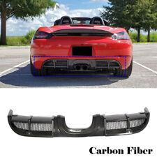Rear Bumper Diffuser Lip for Porsche 718 Boxster Cayman 2016-2018 Carbon Fiber