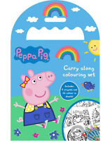 Peppa Pig Carry Along Colouring Pad Party Favour Activity Set Kids