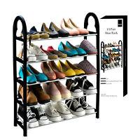 5 Tier Shoe Rack Storage Cabinet Stand Shelf Shoes Organiser Space Saving