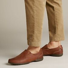 Clarks Recline Free Tan Leather Men's Casual Shoes UK Size 8H / EU 42