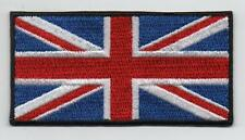 "Embroidered Union Jack GB 3"" Flag Iron on Sew on Patch Badge SUPERIOR QUALITY"