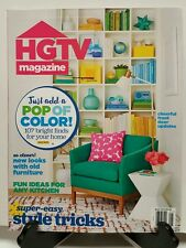 HGTV Magazine Pop of Color Style Tricks Kitchen Ideas May 2016 FREE SHIPPING JB