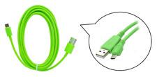 cavo dati USB trasferimento PC ~ Connessione Micro Universale ~ Verde ~ 3 metri