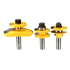 3pcs 1/2 Inch Shank Router Bit Set Woodworking Tool