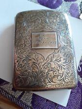 Antique solid silver cigarette case