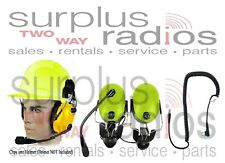 Yellow Headset Construction HardHat Motorola Radio CP200 CP150 PR400 CP185 BPR40