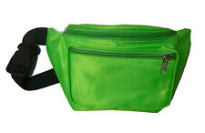 Neon Green 80's Fanny Pack Waist Carrier Costume Accessory