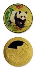 Gold Plated Color Panda Great Wall Of China 2005