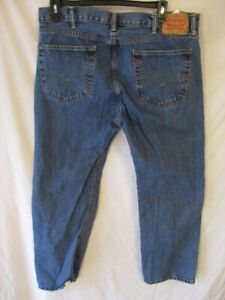 Levi's 505 100% Cotton 40 x 29  Med  Rinse Regular Fit Blue Jeans