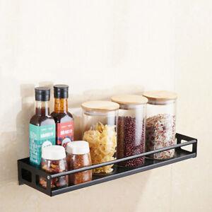 Kitchen Wall Mount Bracket Wall Storage Rack Spice Rack Cabinet Shelf KitchFY