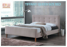 Tiffany Queen Size Bed (Beige Fabric)