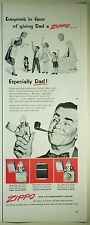 Vintage 1952 ZIPPO LIGHTER 1/2 Page Large Magazine Print Ad - Give Dad a Zippo!