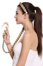 Haarteil Zopf an Haarreif geflochten super lang Tracht Blond Hellblond N1038-96T
