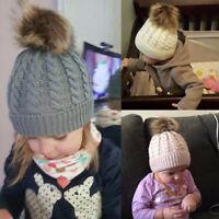 Toddler Kids Girl&Boy Baby Infant Winter Warm Crochet Knitted Hat Beanie Cap