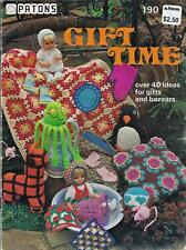 Vintage Patons Gift Time Knit & Crochet Booklet Toys,Dog Coat,Bags,Doll Clothes