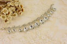 Sequin Dangle Crystal Chain Rhinestone Motif Diamante Applique Wedding Accessory