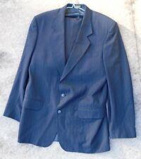 Mens dark navy blue pin stripe suit by Oscar De La Renta size 41 L