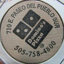 Vintage Dominos Pizza Taos, NM Wooden Nickel Token - New Mexico