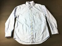 Vineyard Vines Mens Blue Front Pocket Slim Fit Tucker Shirt Size Medium